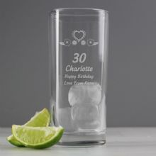 Personalised Birthday Craft Hi Ball Glass P0107C09